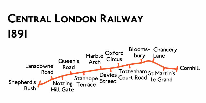 Planned Route Map 1891