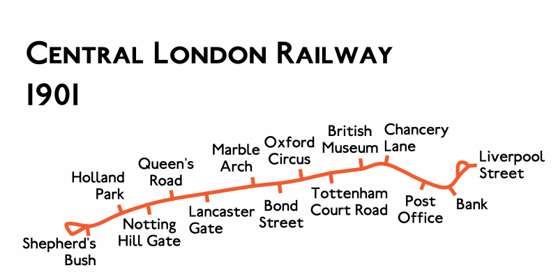 Planned Route Map 1901