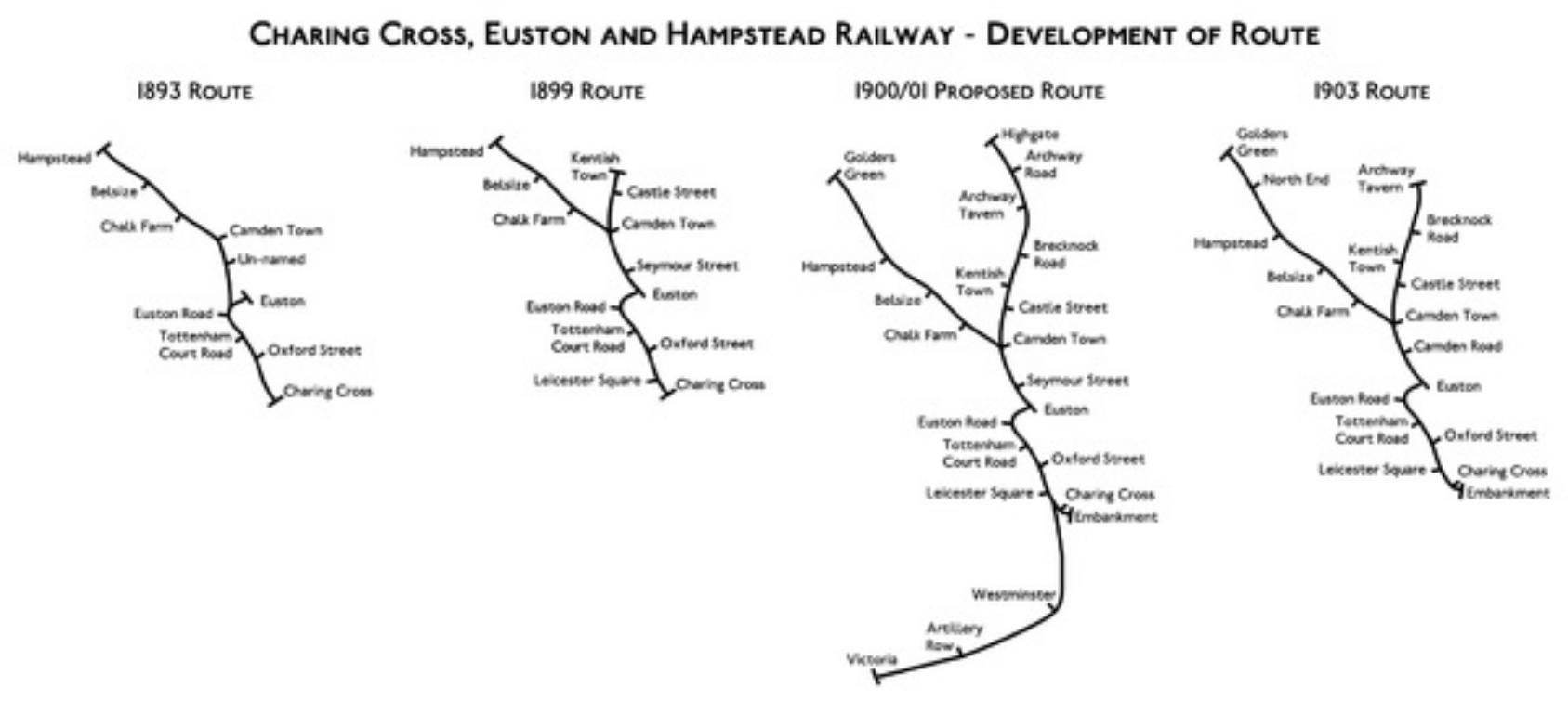 Charring Cross, Euston and Hampsted Railway development
